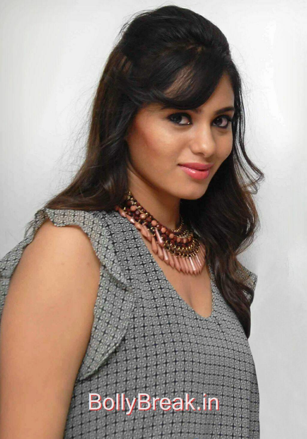 Deepa Sannidhi Photoshoot Stills, Deepa Sannidhi Hot Pics in Grey Colour Frock