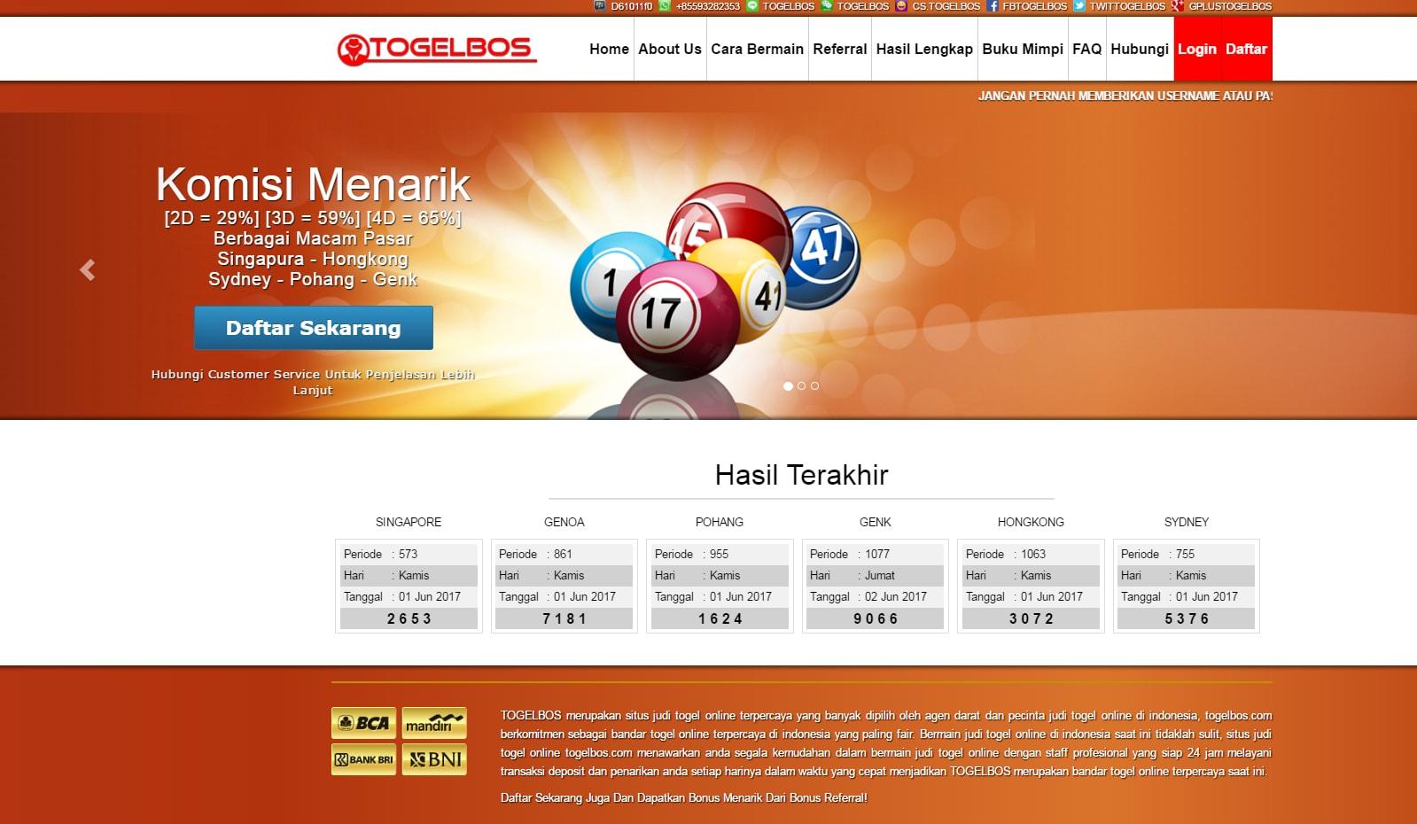 Bandar Togel Online Resmi