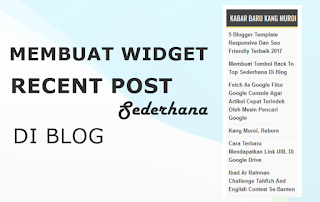 widget recent post sederhana