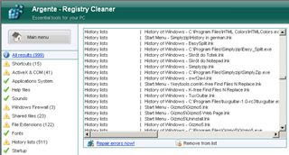 Download Argente Registry Cleaner 3.1.1 free