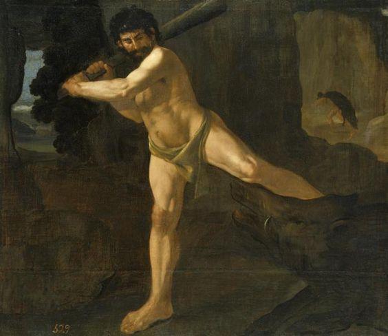 The Erymanthian Boar Francisco de Zurbarán  Museo Nacional del Prado