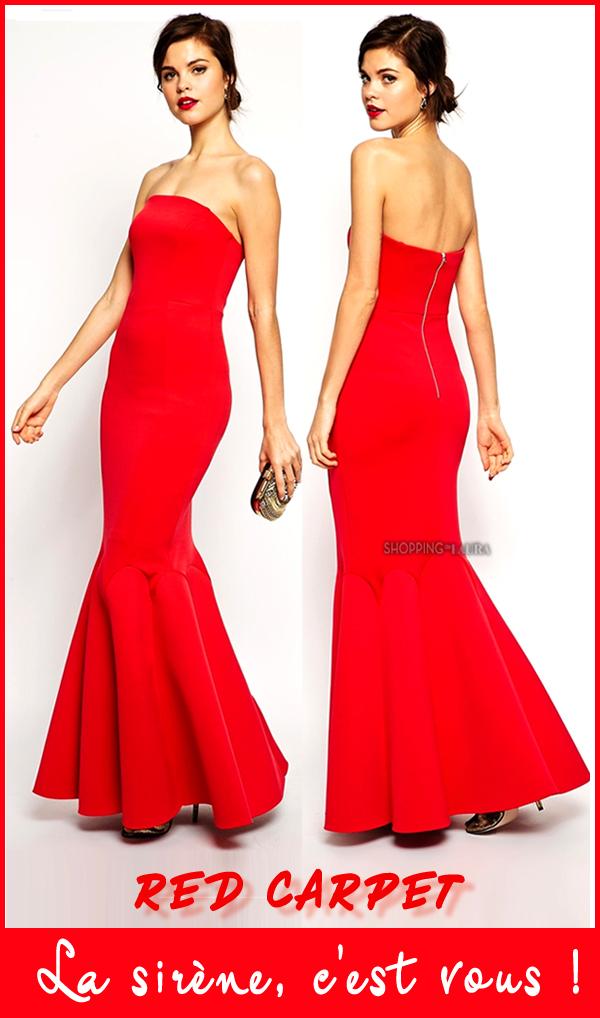 Robe de soirée longue rouge RED CARPET