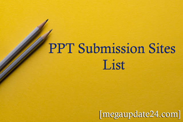 PPT Submission Sites List