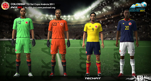 Colombia Copa America 2011 Kit Set by diNo