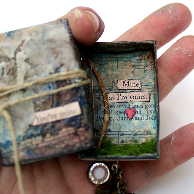 """You're mine. Mine, as I'm yours."" Jon Snow + Ygritte 4evah! Mixed media matchbox  - Nichola Battilana"