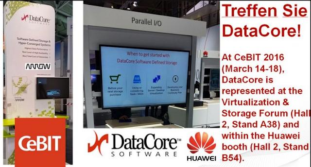 Treffen Sie DataCore! CeBIT Premiere für Data Infrastructure Software von DataCore Performance Rekord