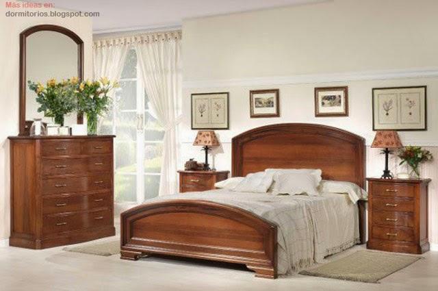 Dormitorios cl sicos dormitorio con estilo cl sico - Dormitorios juveniles clasicos madera ...
