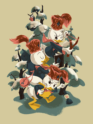 Mondo Ducktales Screen Print Series  - Huey, Dewey and Louie by Anne Benjamin