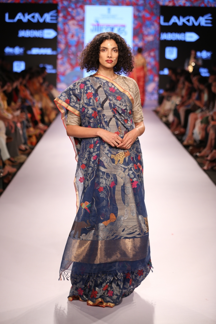 Designer Gaurang Shah's Tree of Life Saree collections in ...