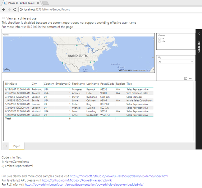 Embed Power BI Report Using ASP NET SDK - Power BI Embedded - Step