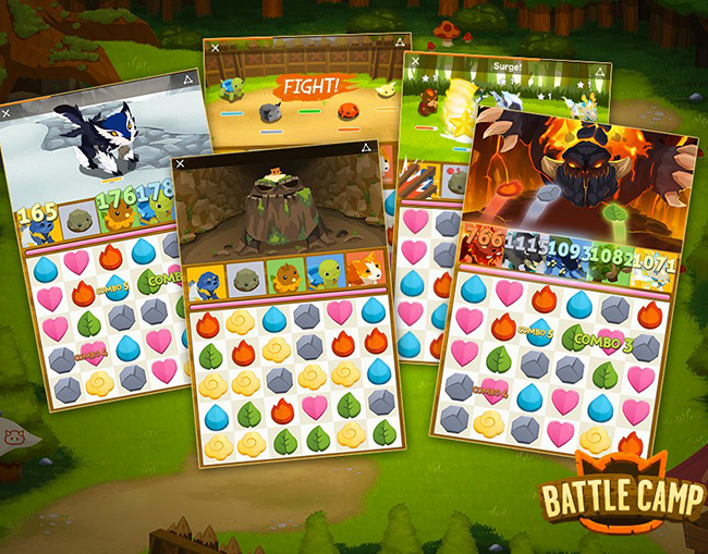 Battle Camp Candy Crush Fights Using Monsters