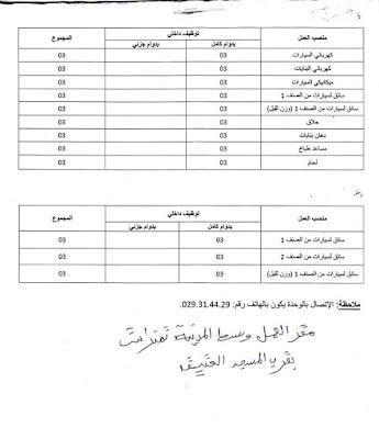 اعلان توظيف  فيالمؤسسة العسكرية للوقاية واعادة التربية بتمنراست /ن ع6-- ماي 2019