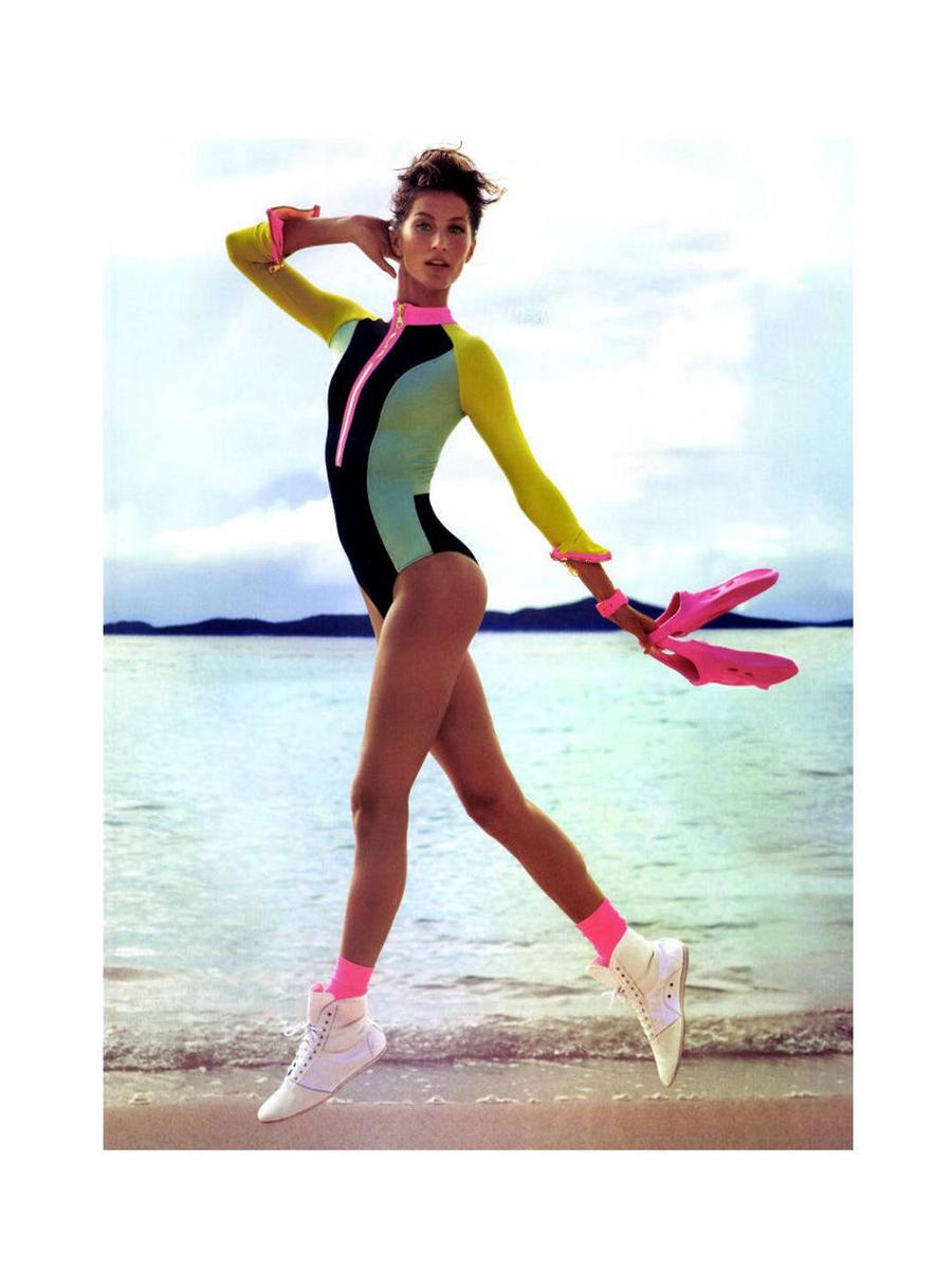 Gisele in Vogue Paris sporty summer fashion editorial - UK style blog