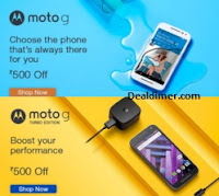 Rs. 500 Off on Moto G 3rd gen & Moto G Turbo - Amazon