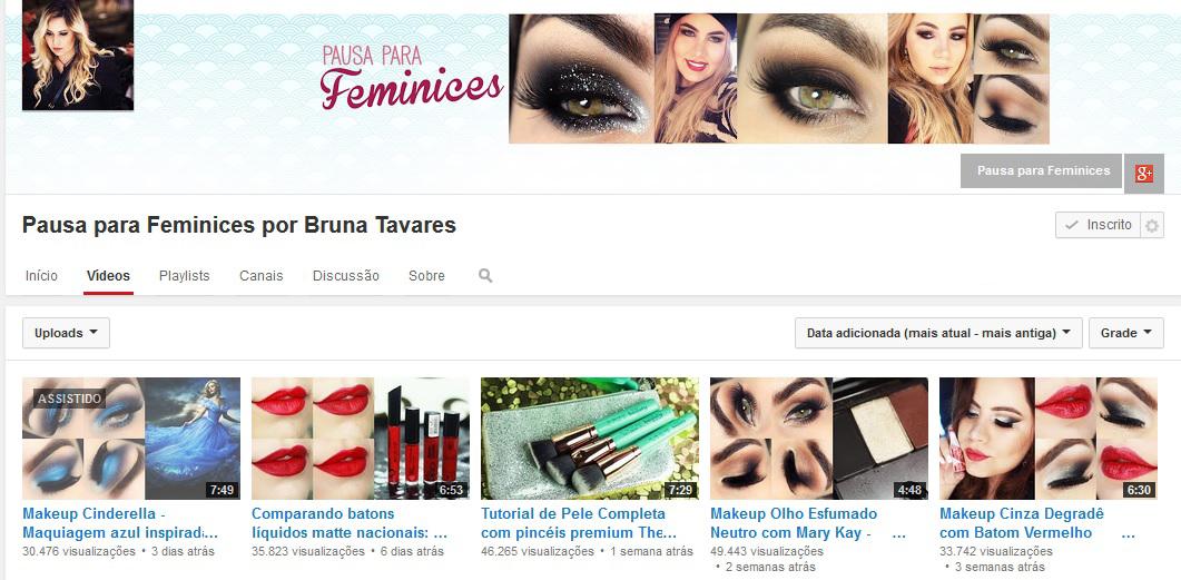 Bruna Tavares - Canal Youtube