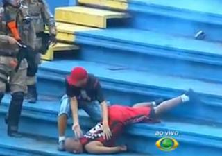 Brutal Pelea en partido de la liga Brasileña