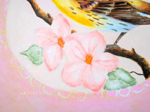 pintura decorativa flor acrilicos paso a paso