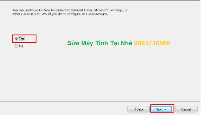 Cài đặt Mail trên Microsoft Outlook 2010 - H02