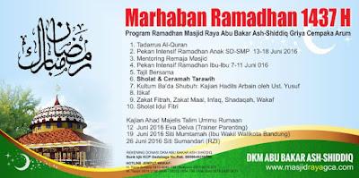 Program Ramadhan Masjid Raya Abu Bakar Ash-Shiddiq GCA