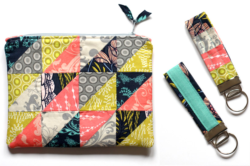 A zippered pouch / cosmetic bag is a quick but satisfying project. DIY Photo Tutorial.