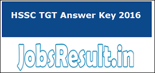 HSSC TGT Answer Key 2016