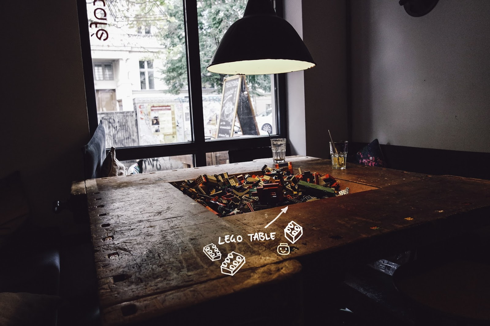 cafe gong gan lego table berlin food 2
