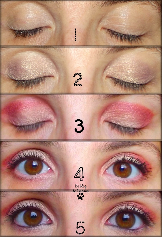 Make up eyes yeux grena bordeaux Zoéva Cacao Blend