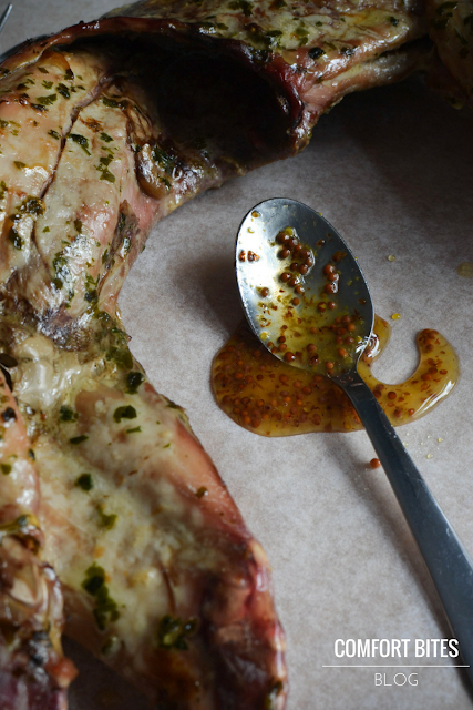 Butter Roasted Wild Rabbit Recipe with Honey Mustard Sauce