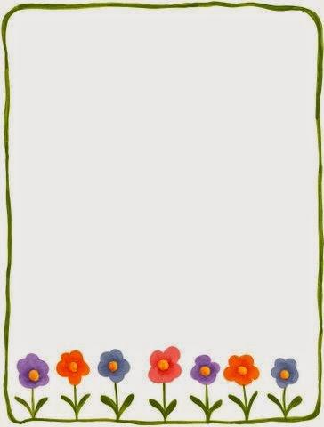 Marcos con Flores en Caricatura para Imprimir Gratis.