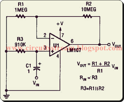 Non Inverting Ac Amplifier Circuit Diagram