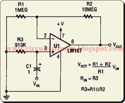 Build a Non Inverting Ac Amplifier Circuit Diagram