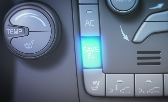 Volvo V60 save electricity for later button