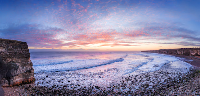 Sunrise at Seaham over Blast Beach near Sunderland
