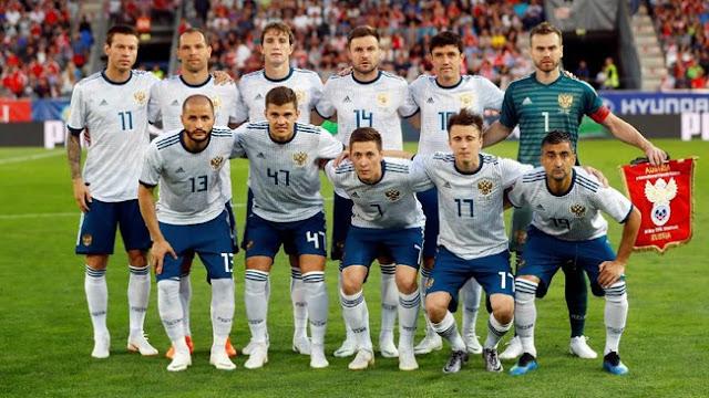 Rusia Tim Berperingkat Terendah di Piala Dunia 2018