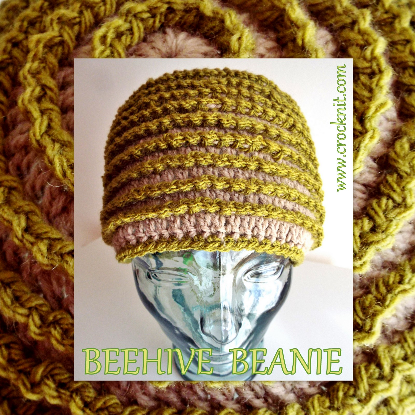 Microcknit creations beehive beanie free crochet pattern beehive beanie free crochet pattern fandeluxe Images