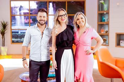 Marcos, Eliana e Lu.Crédito: Gabriel Cardoso/SBT.