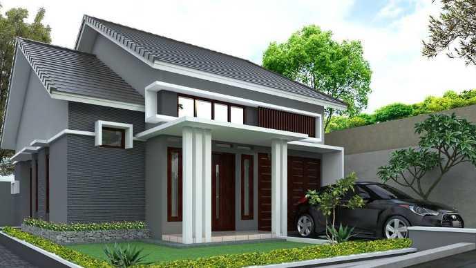Desain tiang depan rumah minimalis modern