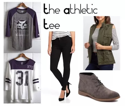 "College Costume Clothes: 2. Tee ""Athletic"""