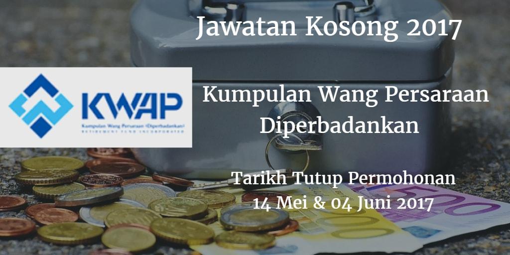 Jawatan Kosong KWAP 14 Mei & 04 Juni 2017