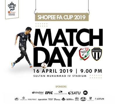 Live Streaming Kelantan United vs Terengganu Piala Fa 16.4.2019