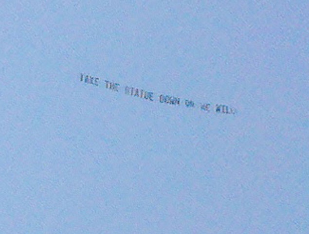 the other paper: Plane flies over Penn State with warning: 'Take the