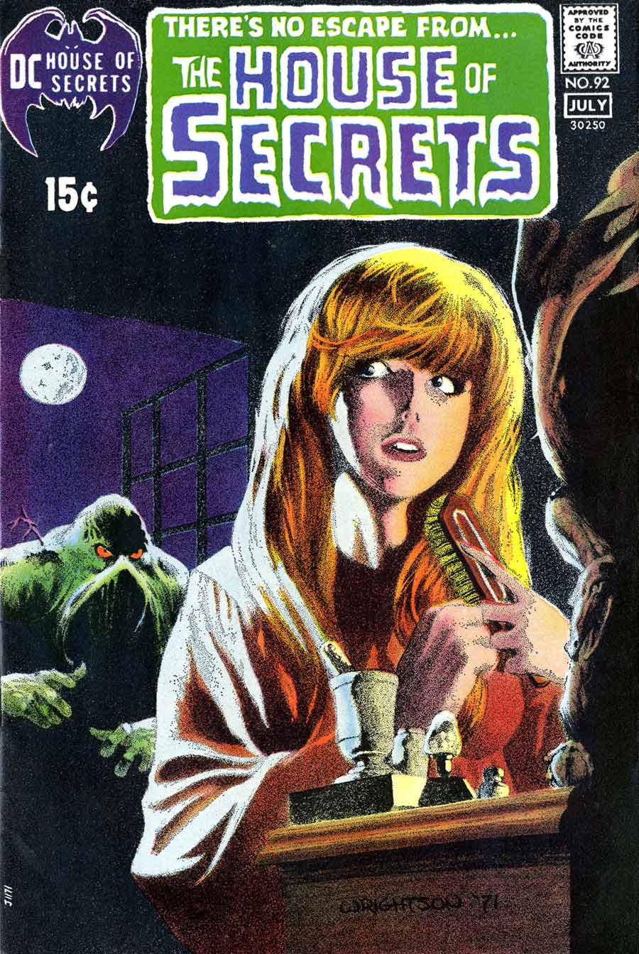 House of Secrets v1 #92 dc comic book cover art by Bernie Wrightson