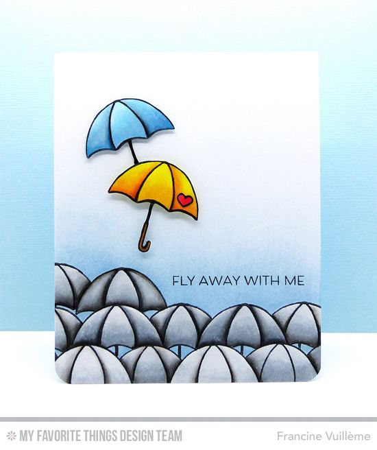 Fly Away with Me Card by Francine Vuillème featuring the Lisa Johnson Designs All Heart stamp set #mftstamps