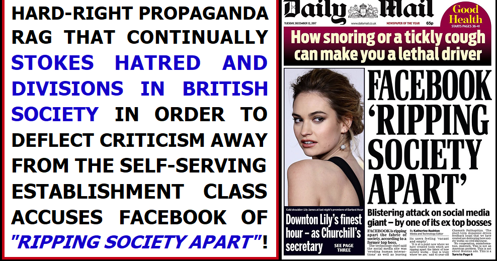 The Daily Mail is accusing others of divisiveness!