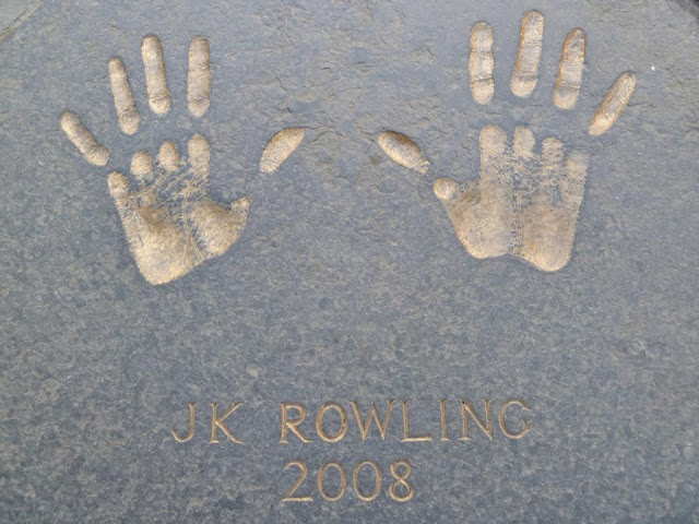 J.K. Rowling Edinburgh Award handprints, City Chambers, Edinburgh