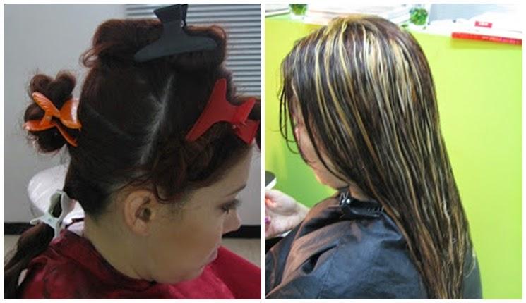 dividiendo el cabello antes de pintarlo