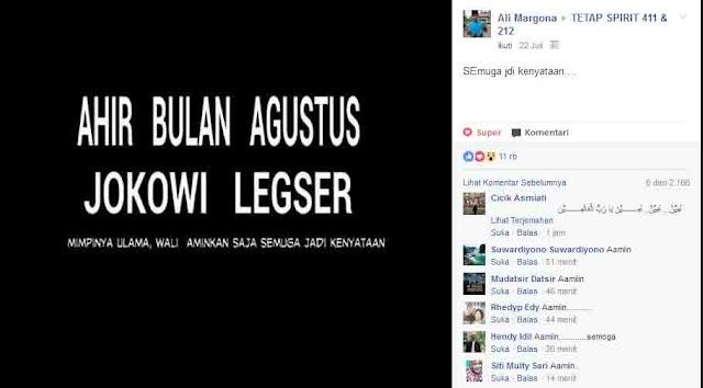 Ini Suara Facebooker soal Alasan Presiden Indonesia Mau Dilengserkan