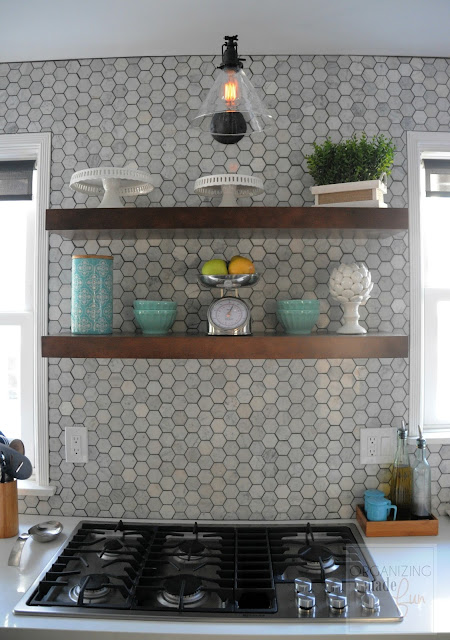 Modern kitchen of Organizing Made Fun's home tour