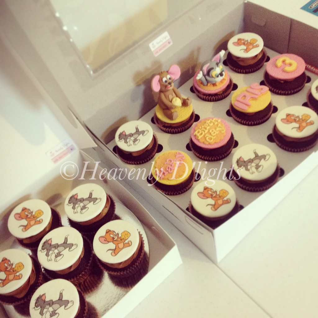 Heavenly Dlights Tom And Jerry Birthday Cupcakes