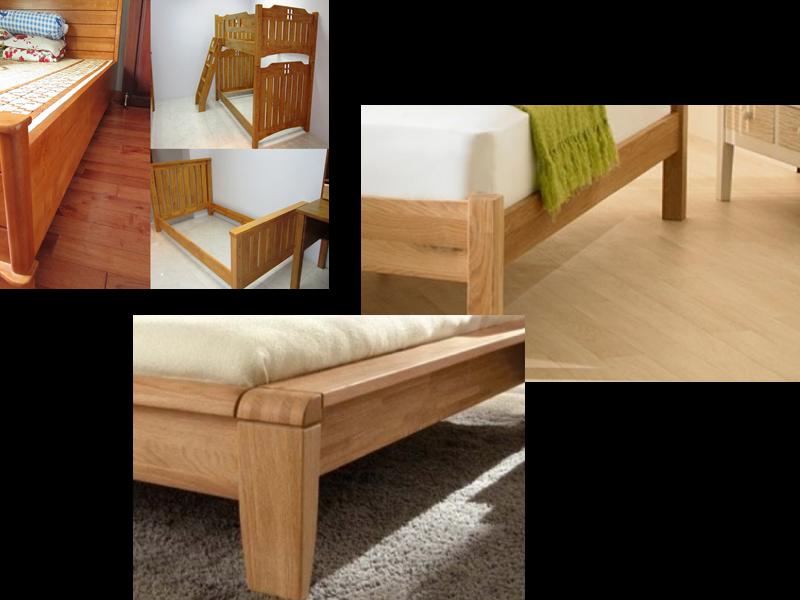 Ghép vai giường gỗ